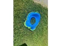 Blue turtle child/toddler toilet seat