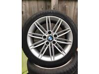 "BMW 1 series 17"" m sport alloys tyres"