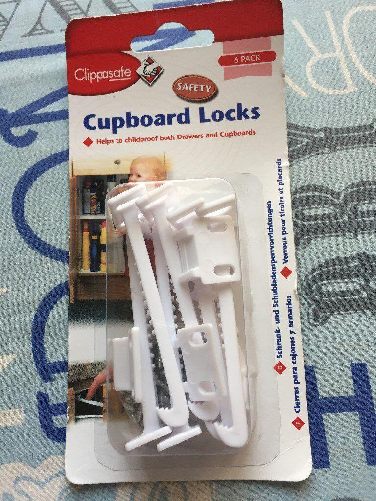 New Clippasafe pack of 6 Cupboard locks