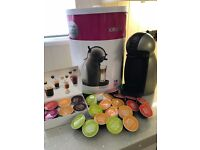 Nescafe Dolce Gusto Piccolo Manual Coffee /Drinks Machine, by Krups - Titanium colour