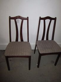 2 X Dining Chairs I.D. No. 44/2/17