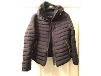 Black puffa coat size XS