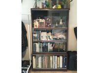 Mid Century Book Shelving Unit with glass fronting