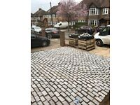 Granite Setts Cobbles 200mm x 100mm x 50mm 25sq+ meters BRAND NEW EXCESS ORDER CALL 07980111115