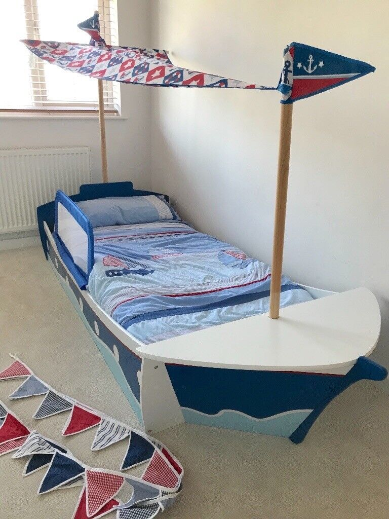 Next wooden pirate ship bed children's kids single bed and ...