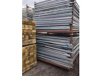 🚧 Used Heras Temporary Security Fencing Sets X 35 - Panels/Clips/Feet