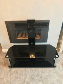 Black Stylish TV Stand with Mount
