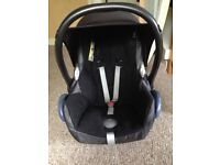 Red mothercare orb spin and car seat