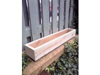 ****NEW WOODEN TREATED GARDEN PLANTER,60 cm - 120 cm window box,herb ,bulb,flower,pot,boxes