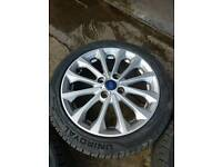 ford alloys with brand new tyres