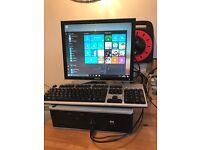 HP Compaq desktop pc with dell monitor and windows 10