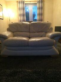 3+2 Leather sofa (cream)