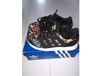 Adidas X Farm Black Print Trainers Size 5