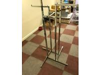 3 x commercial / industrial metal Clothes rails / stands for retail use. Strong and sturdy
