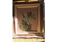 Vintage shabby chic oil painting
