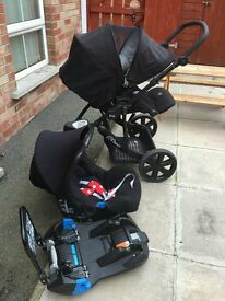 Britax B-Smart Travel Pushchair, with Car seat and Belted Car Seat Base