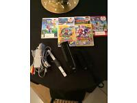 Nintendo Wii Black with 6 Games
