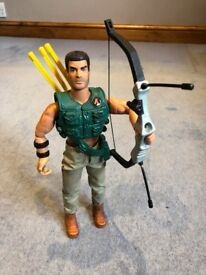 1996 Action Man - Hunter + Bow + Arrow 90's Military Toy