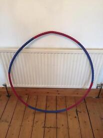 Weighted hoola hoop fitness exercise equipment
