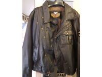 Harley Davidson leather bike jacket..waste coat..boots ..great condition .