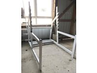 Commercial Grade Olympic Half Rack / Squat Cage - Weights Gym