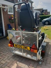 Custom built trailer for mobility scooter ,full electrics ,never been on the road .