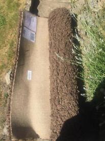 Debenhams shaggy large brown rug 120x170