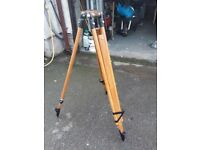 Vintage wooden tripod circa 1959 suitable for lamp or telescope