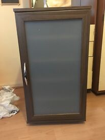 Dark brown Cupboard with shelves