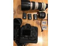 Canon 7d mk ii dslr camera + tons of extras inc 70-200 L series lens