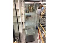 Glass Cabinet with Glass Shelves - x6 Available Brown and Great Condition - Shop Display Storage