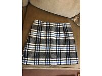 New Look checked skirt size 10
