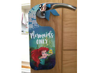 Disney Little Mermaid Door Hanger, By Primark, Mermaids Only