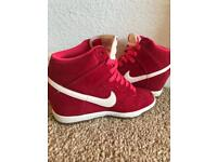 Nearly new size 4 Nike wedge trainers