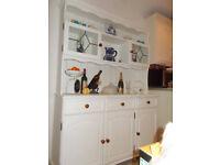 Vintage kitchen storage dresser, white