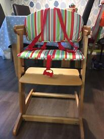 Wooden Red Kite High Chair