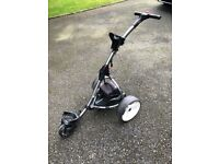 Silver Motocaddy S1 Electric Golf Trolley with 36 Hole Battery and Charger