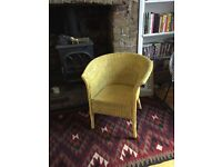 Lloyd Loom Chair in Farrow and Ball Babouche