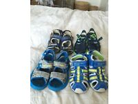 Boys size 8 sandals bundle
