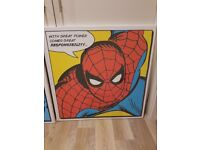 Superman & Spider-Man Large Set Wall Canvases