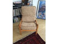 Vintage reading arm chair living room