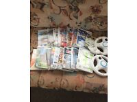 Wii & Wii Fit & bundle of games & accessories
