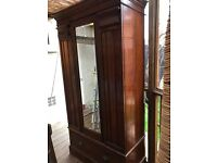Beautiful Edwardian wardrobe, lovely condition with bevelled mirror