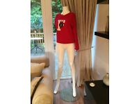 Female Mannequin In Bright White and Fab Condition