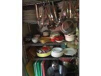 Chrome shelving storage kitchen