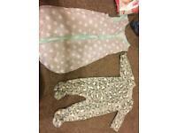 3-6 months sleepwear (and vests added) girls