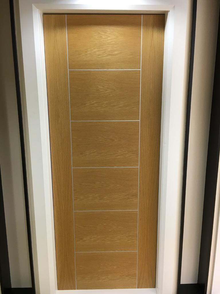 Half price sale on pre finished oak Paros fire doors
