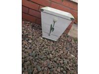 £5 Solid wood painted litter bin