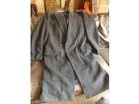 Mens grey wool / cashmere coat