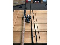 MAP CARPTEK 12ft feeder rod plus dilator ct40 graphite reel